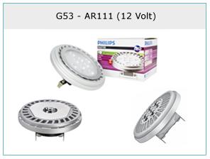 G53 en AR111 op 12 Volt