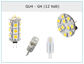 GU4 en G4 op 12 Volt