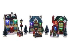 Kersthuisjes met led verlichting