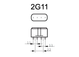 Fitting 2G11 voor PL-L 4 pins lampen