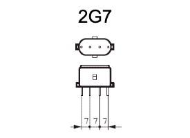 Fitting 2G7 voor PL-S lampen