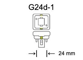 Fitting G24d-1 voor PL-C lampen