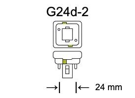 Fitting G24d-2 voor PL-C lampen