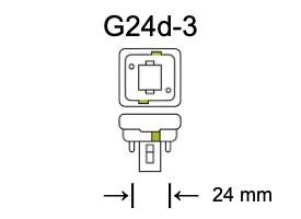 Fitting G24d-3 voor PL-C lampen