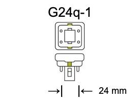 Fitting G24q-1 voor PL-C lampen