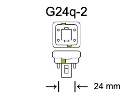 Fitting G24q-2 voor PL-C lampen