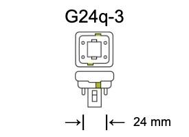 Fitting G24q-3 voor PL-C lampen